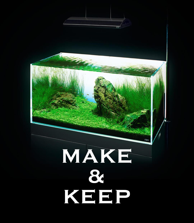 水景はより美しくなる、水槽用LEDバックライトの光