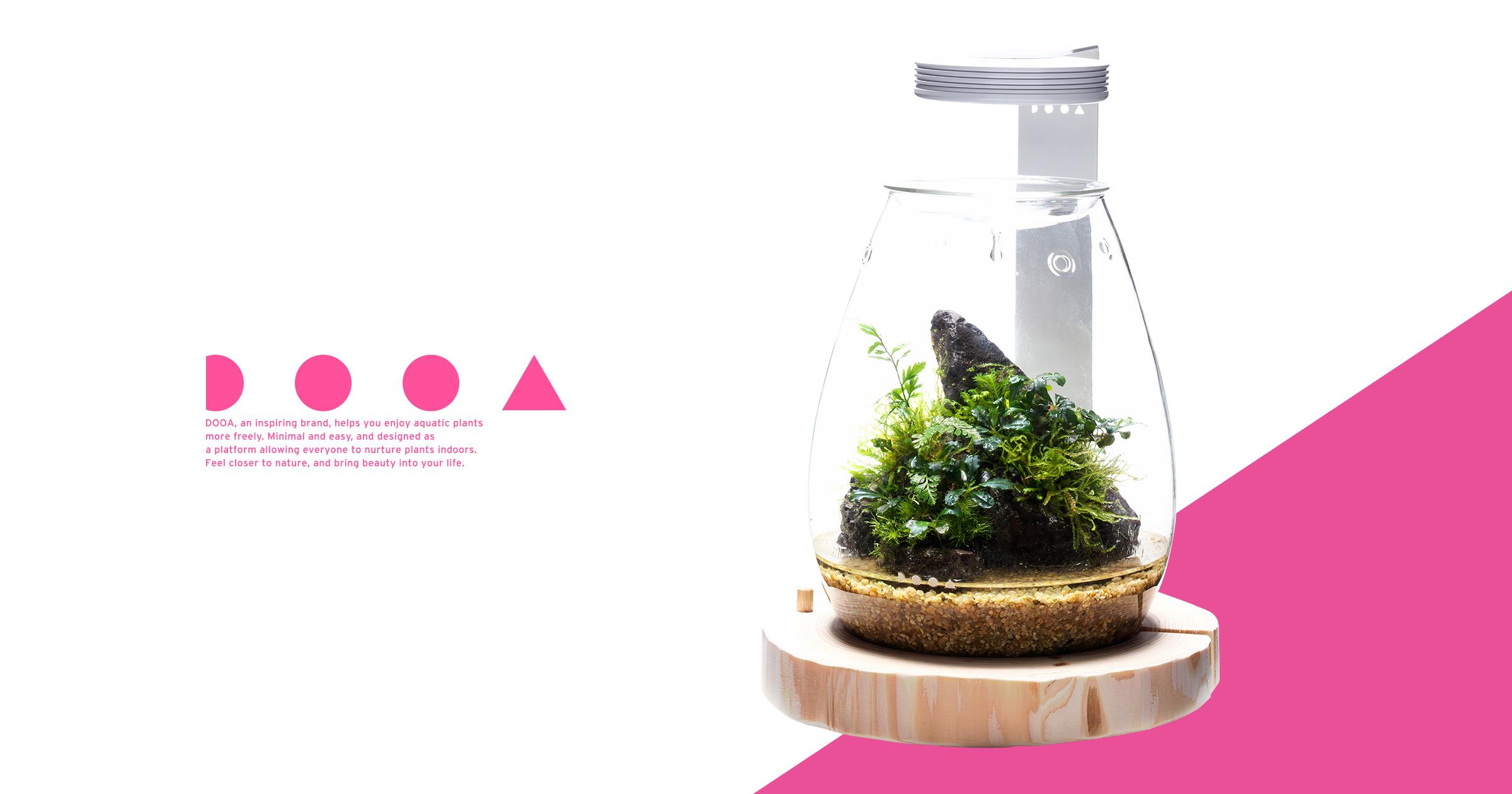 DOOA GLASS POT SHIZUKU 「心身を癒す森の力を新たなカタチに」