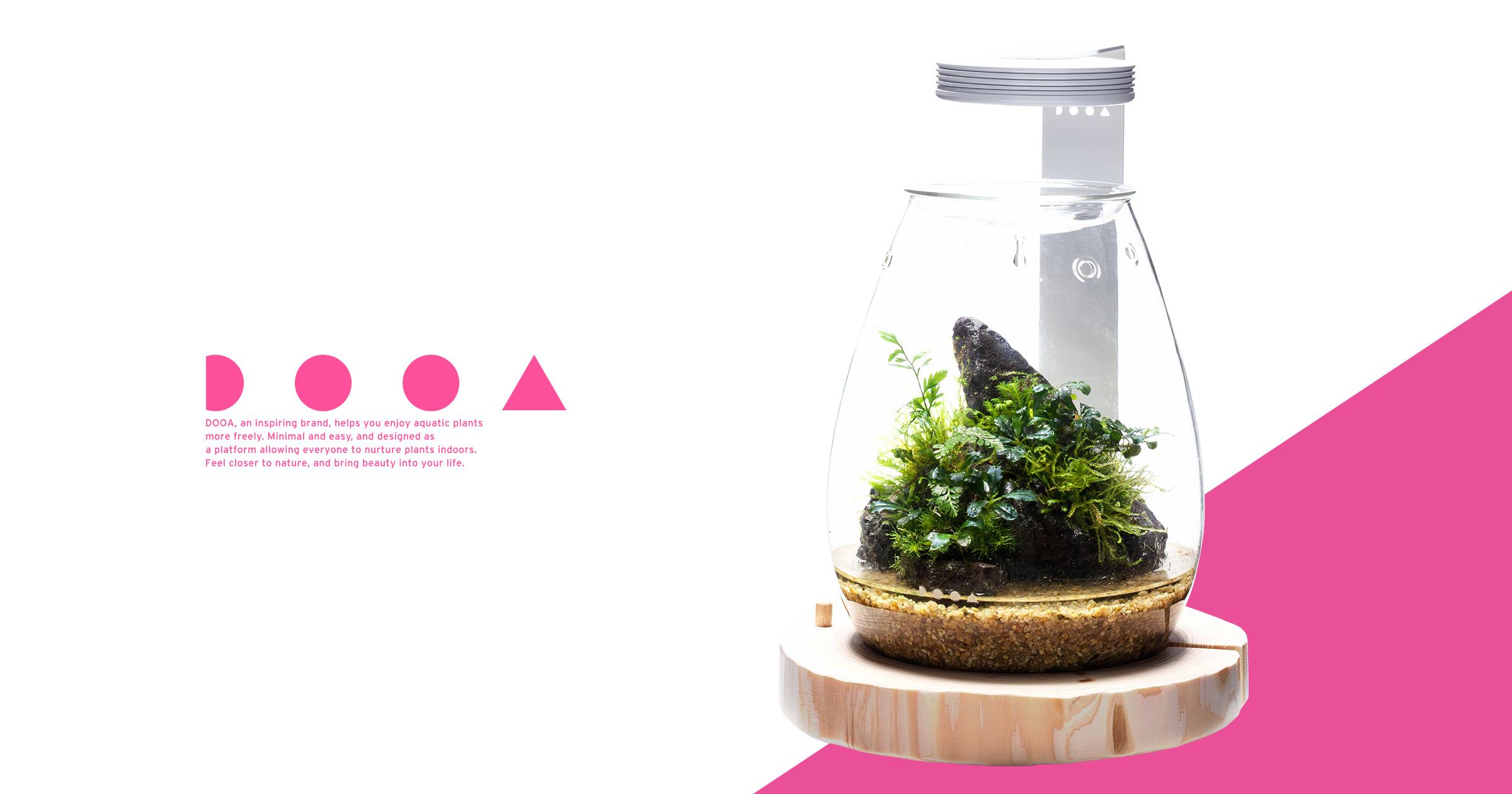 DOOA GLASS POT SHIZUKU 'Bring the Healing Power of Forest into A New Shape'
