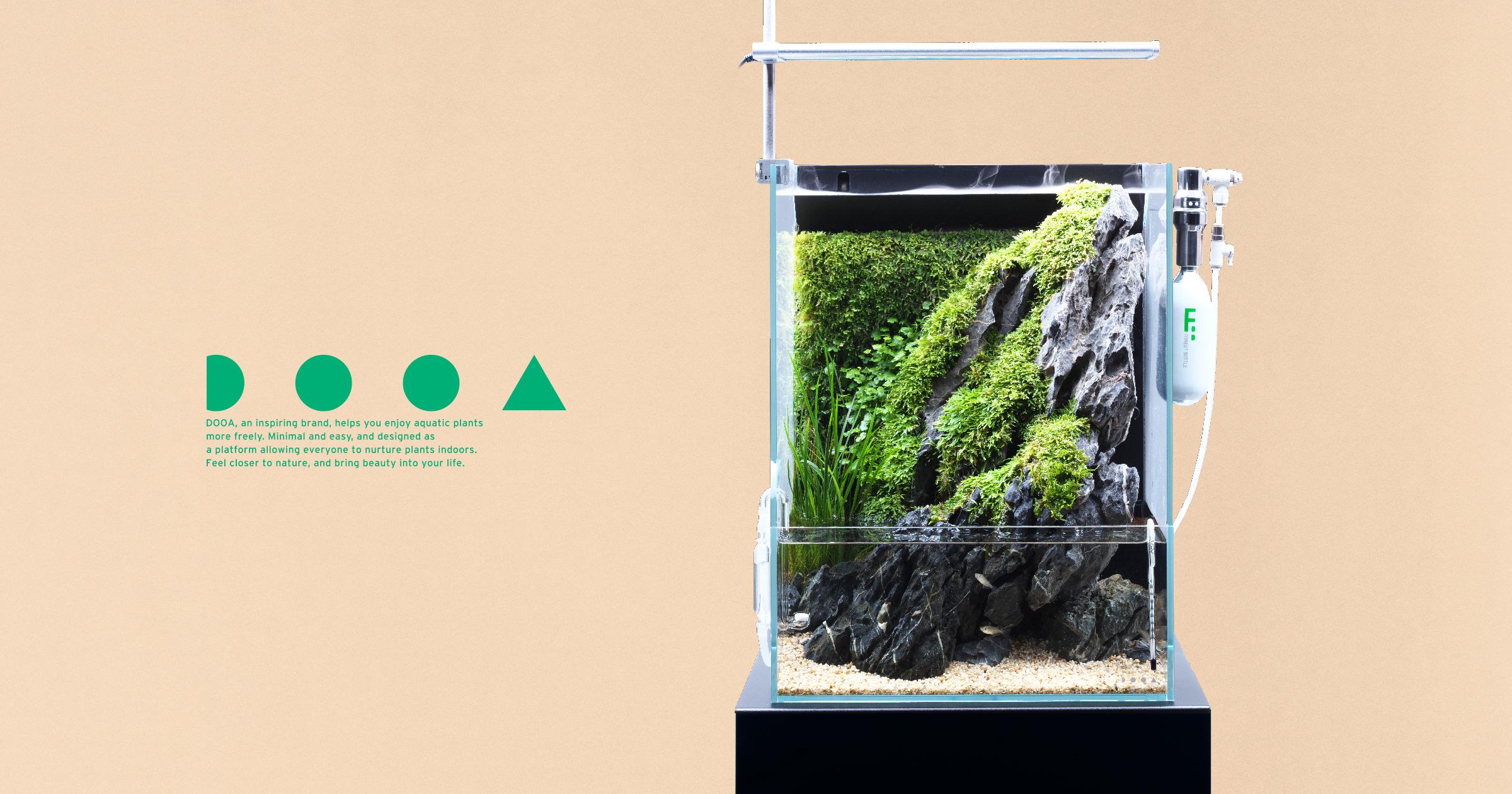 DOOA SYSTEM TERRA 30 'Enjoy Waterside Scenery  Created in An Aqua-terrarium'