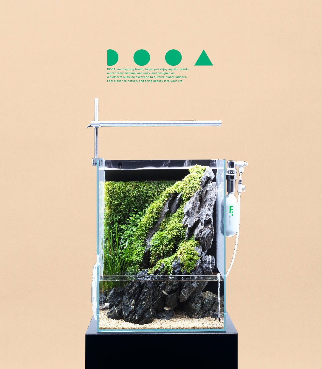 DOOA SYSTEM TERRA 30 'Enjoy Waterside Scenery  Created in An Aqua-terrarium'