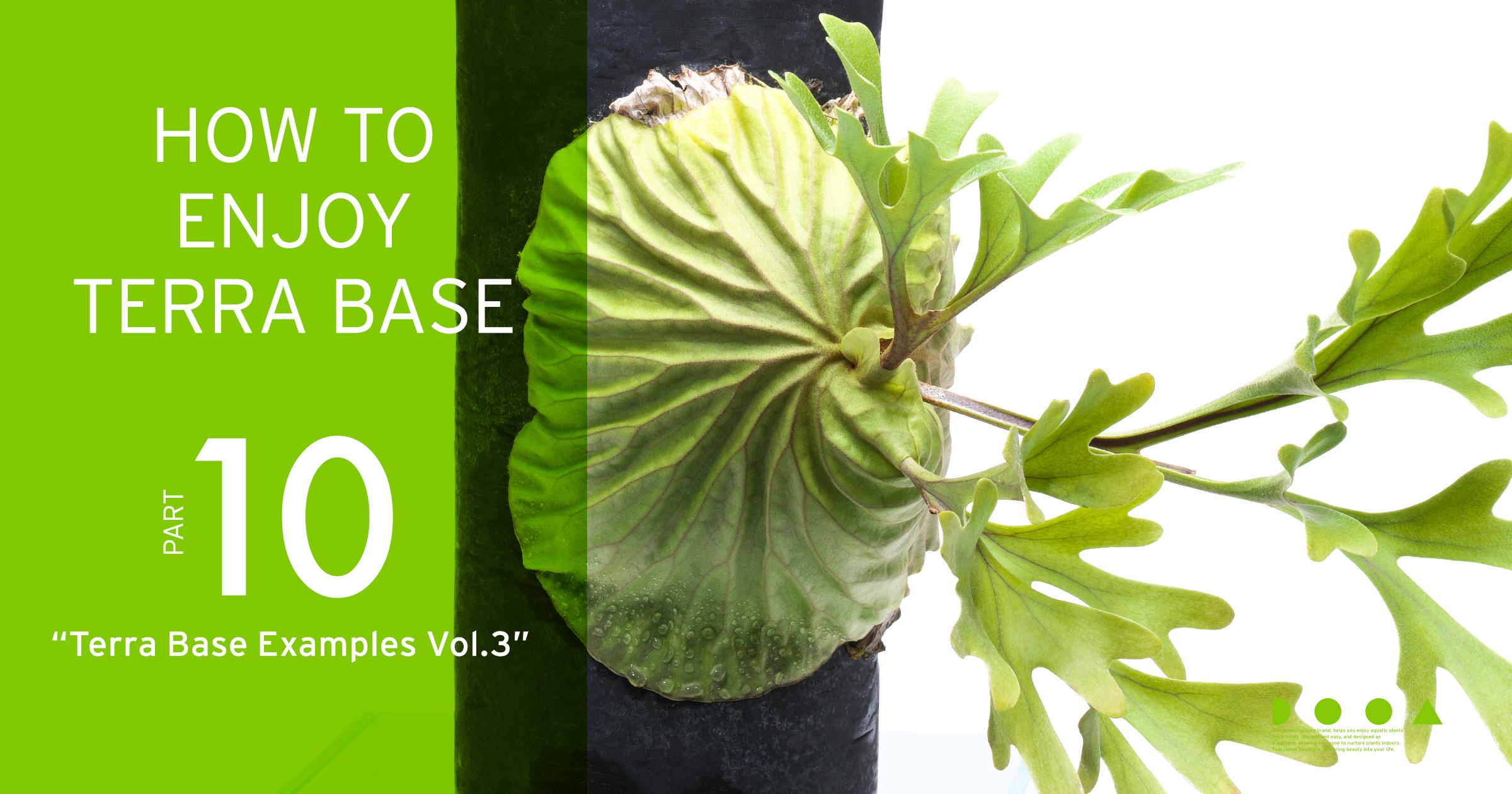 "HOW TO ENJOY TERRA BASE ""Terra Base Examples Vol.3"""